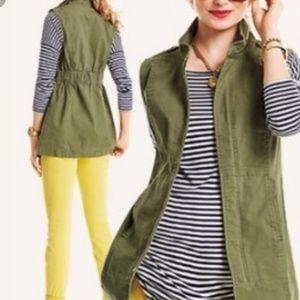 CAbi Olive Green Cotton Explorer Vest